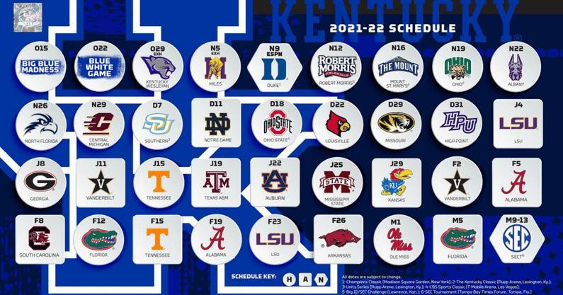 Kentucky Schedule