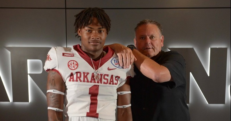 Anthony Brown 2022 arkansas safety commit milan tennessee football recruiting