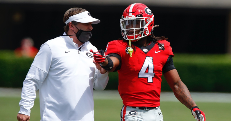why-georgia-bulldogs-head-coach-kirby-smart-feels-that-running-back-zamir-white-james-cook-are-at-launch-point
